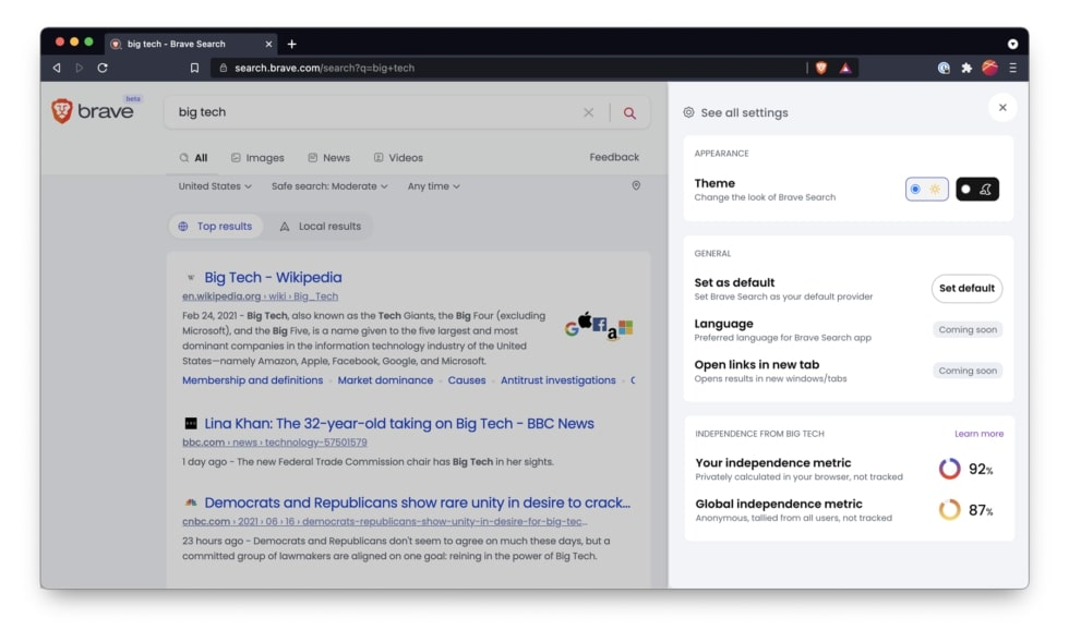 Brave Search Engine Launched with focus on Privacy